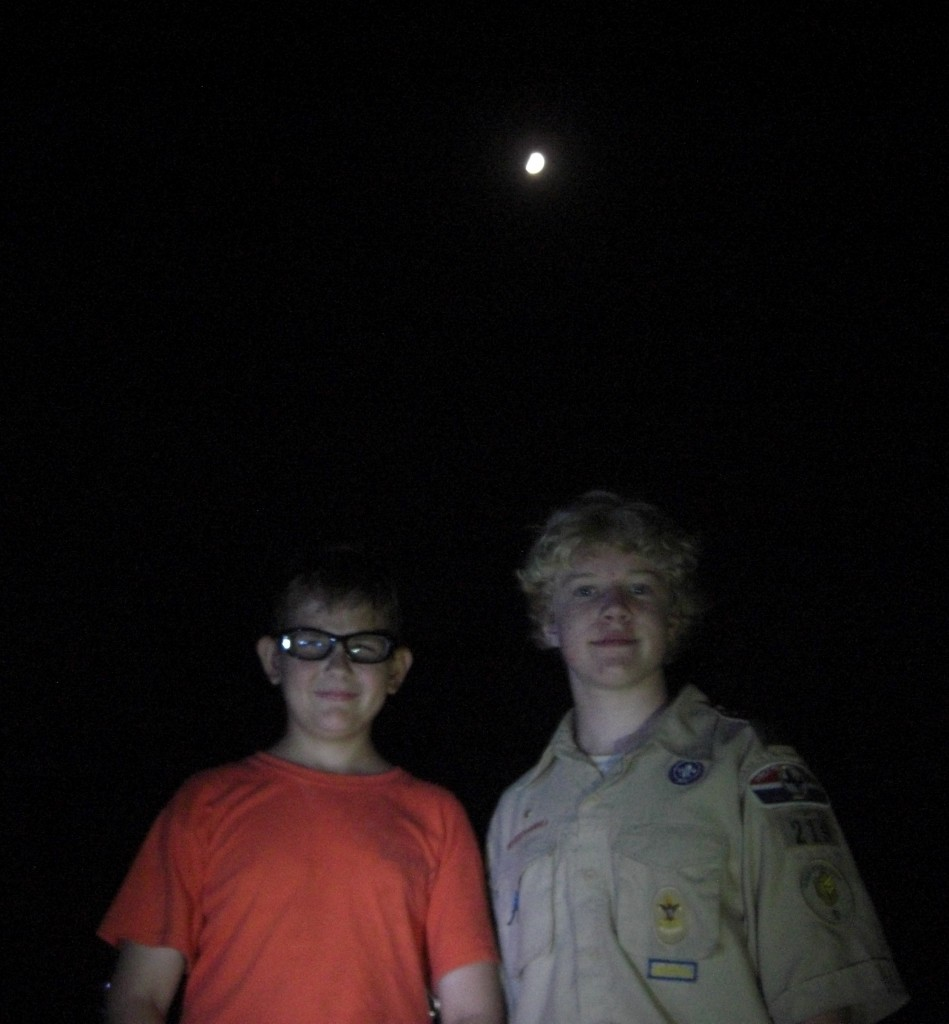 Matthew, another scout and the Moon  Camp James Ray TX