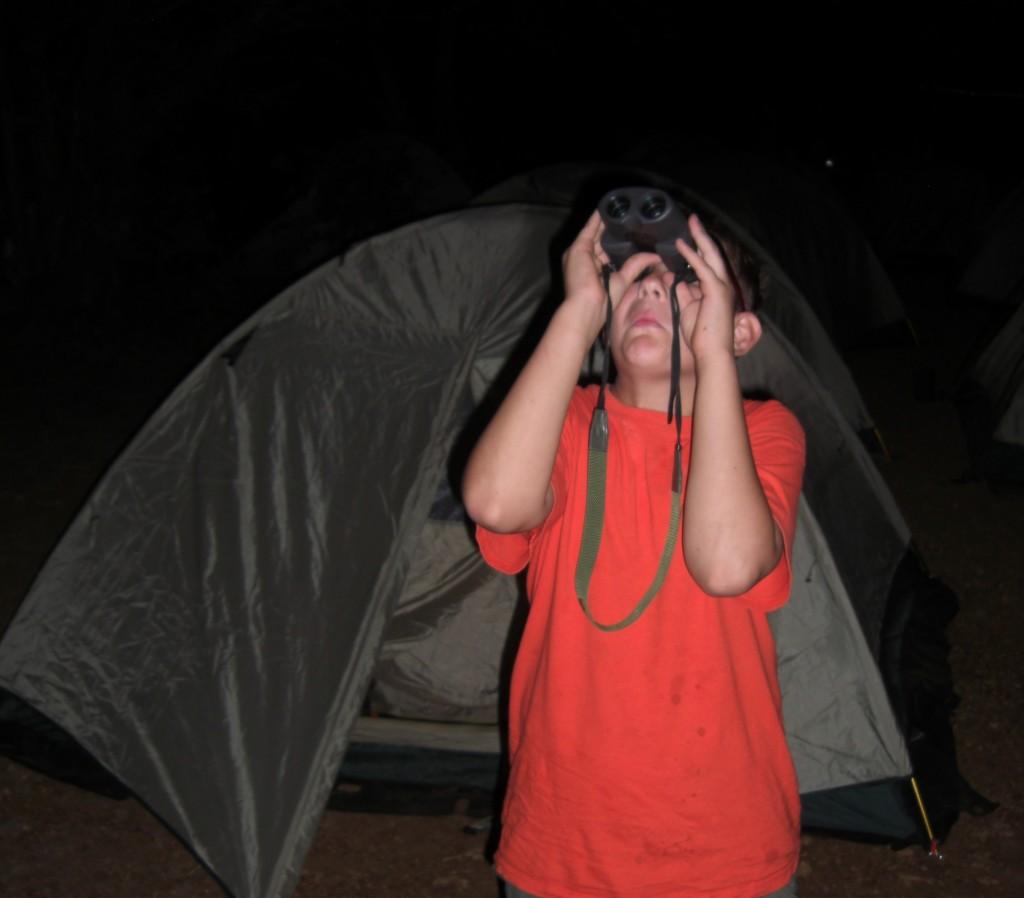 Matthew on Moon Watch Camp James Ray TX